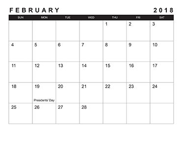black and white calendar design template