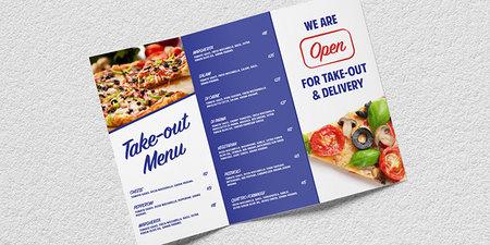 Tri-Fold Take-Out Menus Marketing