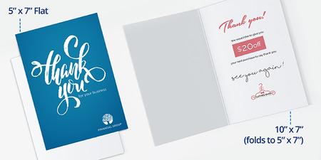 Thank You Cards Print Custom