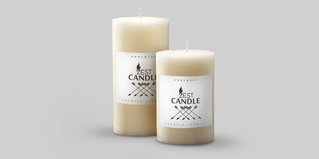 Cut-to-size Candle Labels