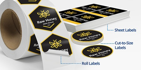 Cut-to-Size and Roll Custom Labels