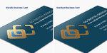 Metallic Business Cards Material Comparison