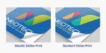 Metallic Stickers Comparison