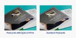 Spot UV Postcard Comparison