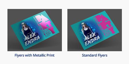 Metallic Flyers Ink Printing