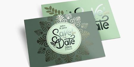 Metallic Save the Date Cards