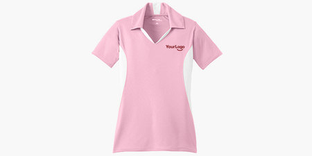 Ladies Side Blocked Micropique Sport-Wick Polo Shirt